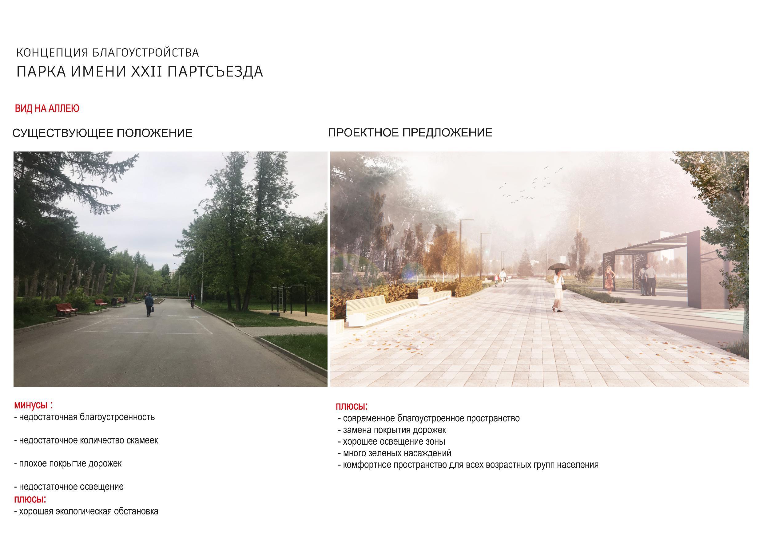 Так, согласно презентации проекта, будет выглядеть главная аллея в парке