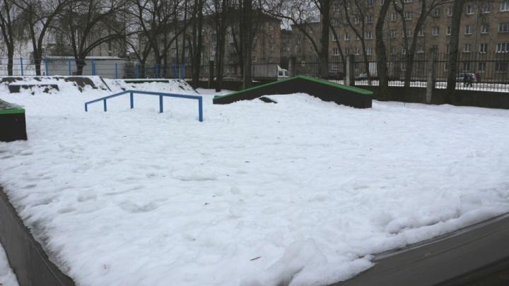 В Рыбинске расслоилась морозоустойчивая скейт-площадка, на которую потратили 25 миллионов рублей