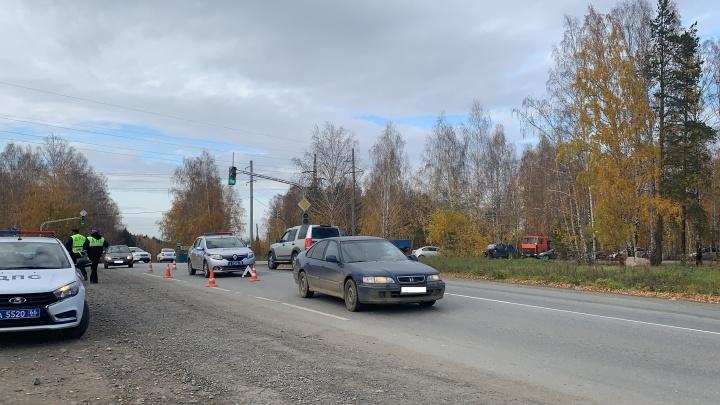 На Сибирском тракте водитель Honda Accord сбил мальчика, перебегавшего дорогу в неположенном месте