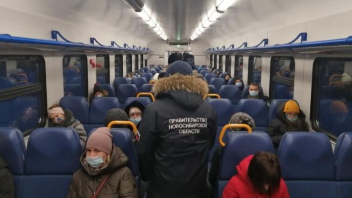 Рейды продолжаются: в Новосибирске из электрички высадили двух пассажиров без масок