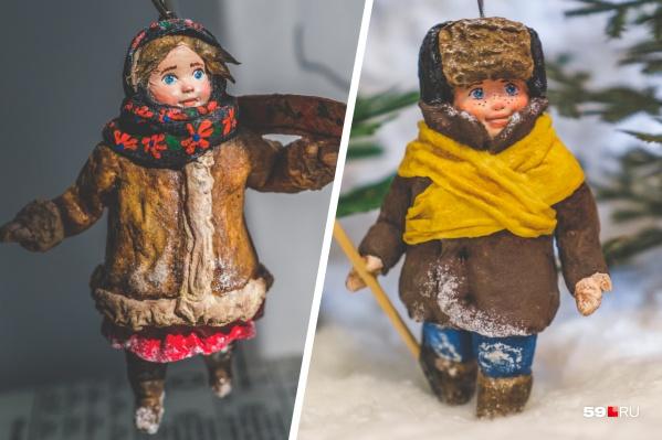 Такие фигурки создает Анна Онищенко