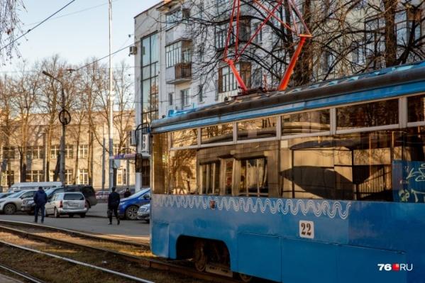 Трамвай № 9 был нужен во время перекрытия Тутаевского шоссе