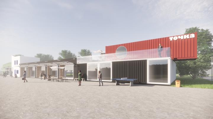 В Сысерти построят торговый центр из морских контейнеров и старых гаражей