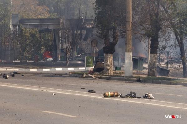 Пострадавший пожарный получил сильные ожоги