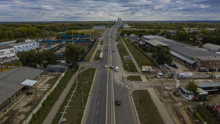 С четырьмя полосами: завершился капремонт проспекта Кирова у моста через Самарку