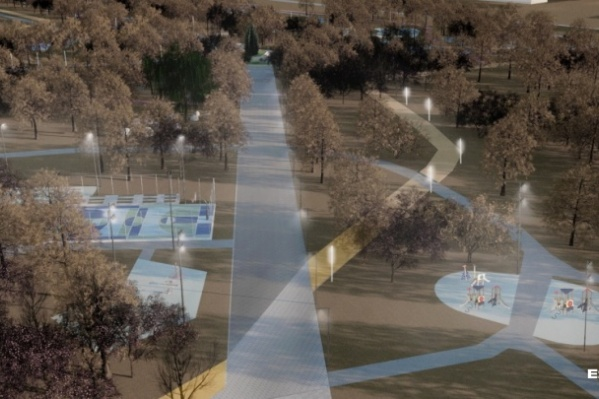 В парке будет центральная аллея