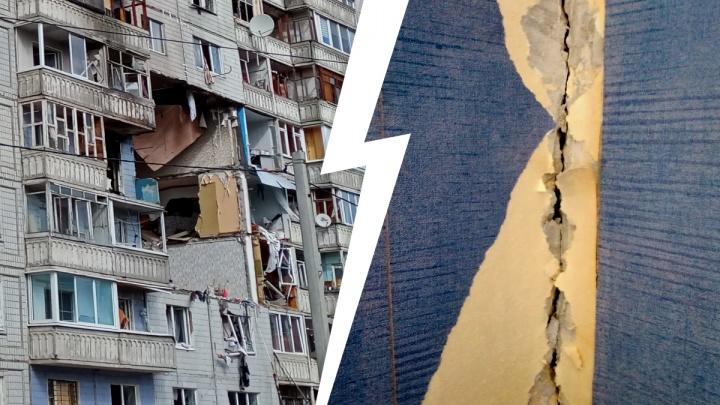 «Там всё в трещинах насквозь»: жильцы показали, как выглядит третий подъезд взорвавшегося дома