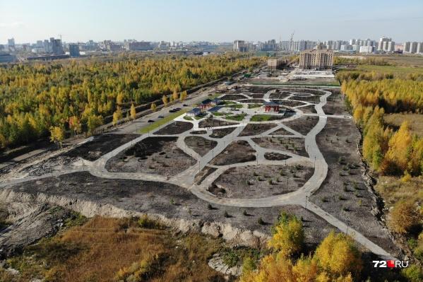 Парк находится прямо за ЖК «Айвазовский»