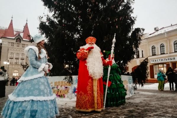 Дед Мороз зажег главную елку Рыбинска