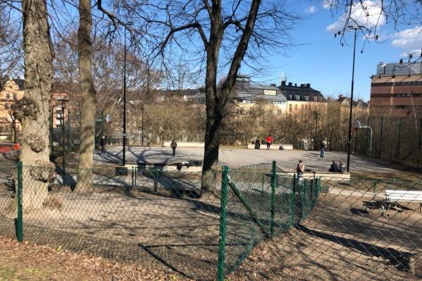 Хотя в парках Стокгольма сегодня пустынно, Рома и Марина говорят, что это, в принципе, нормальное состояние для города