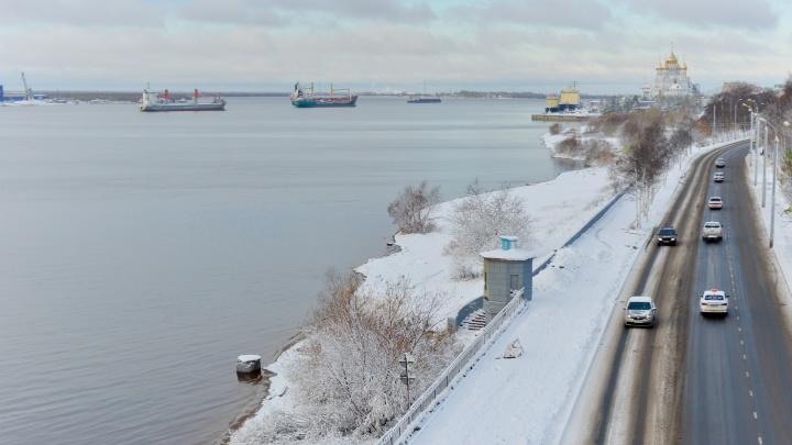 Пока не растаяло: любуемся на заснеженный Архангельск в фоторепортаже 29.RU