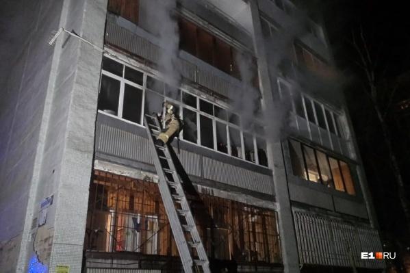 Площадь пожара — четыре квадратных метра