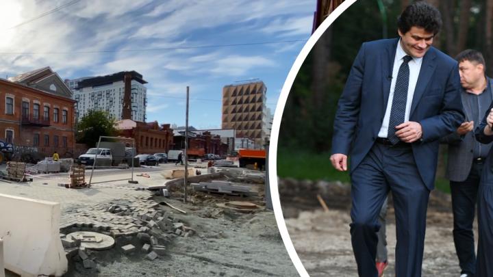 «Там столько всего наверчено»: Высокинский рассказал, почему затянулась реконструкция улицы Горького