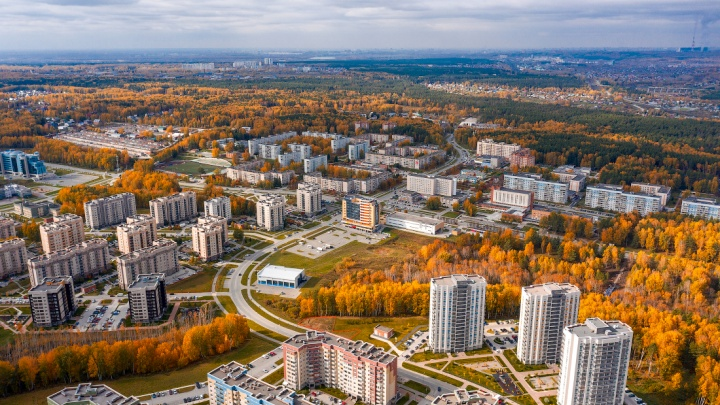 Слава Степанов показал снимки Кольцово с высоты — рассматриваем 10 живописных кадров наукограда