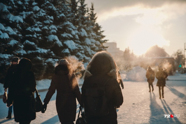 Пока тюменцы совсем не чувствуют приближение весны: уже несколько дней стоит мороз