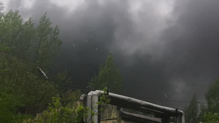 Чёрный столб дыма поднялся над Ярославлем: спасатели рассказали, что горит
