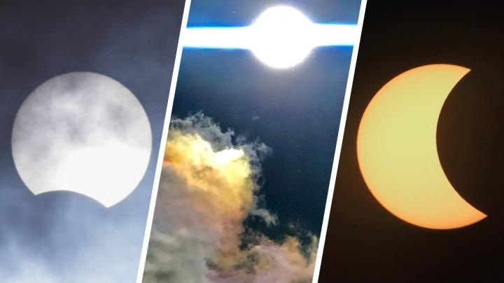Это повторится не раньше чем через 20 лет: уникальные кадры солнечного затмения из Тюмени