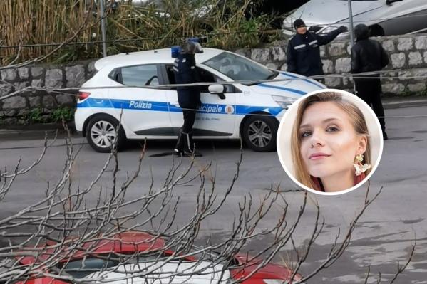У жилых домов дежурит полиция