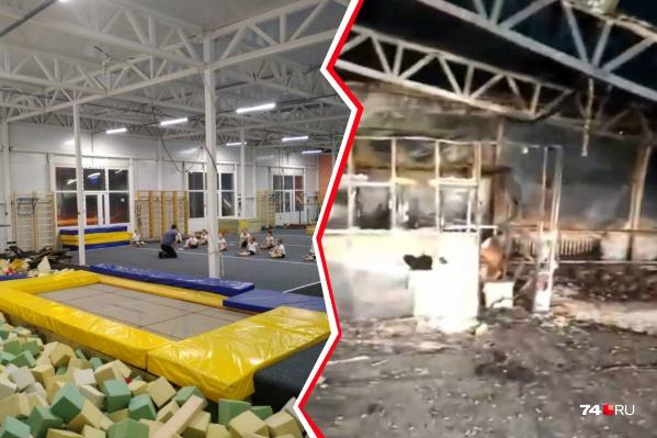 Пожар произошёл при монтаже нового гимнастического оборудования