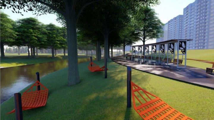 В Куйбышевском районе Самары обустроят парк с гамаками