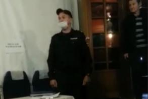 Полицейский приехал на вызов и скрутил кандидата