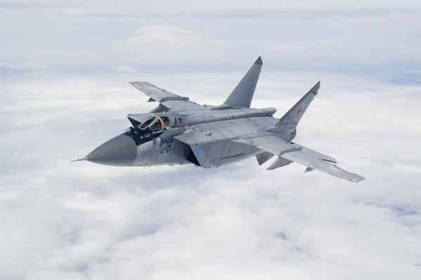 В учениях участвовали МиГ-31
