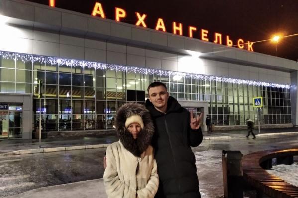 Руслана в Архангельске встретили волонтеры штаба, например Ольга Кузнецова