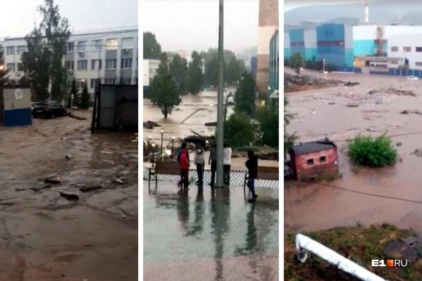 Из-за сильного потопа пришлось остановить работу завода