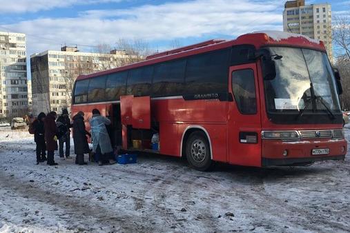 Автобус для бездомных курсирует раз в неделю по центральным улицам города