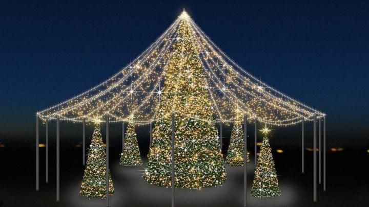 Под куполом и сразу пять елок: как еще украсят к Новому году Архангельск