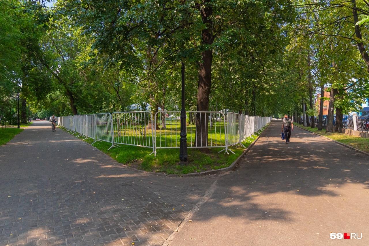 На лужайках тоже планируют разместить площадки «Лето Парка»