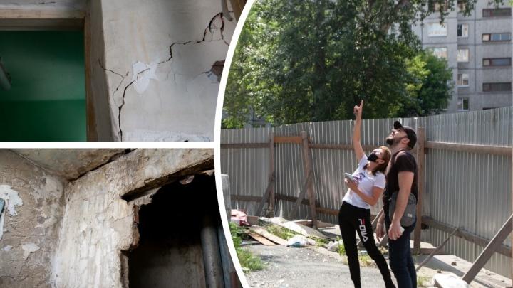 Трещины по стенам, тёмный и мокрый подвал: как живут жители тюменского общежития в центре города