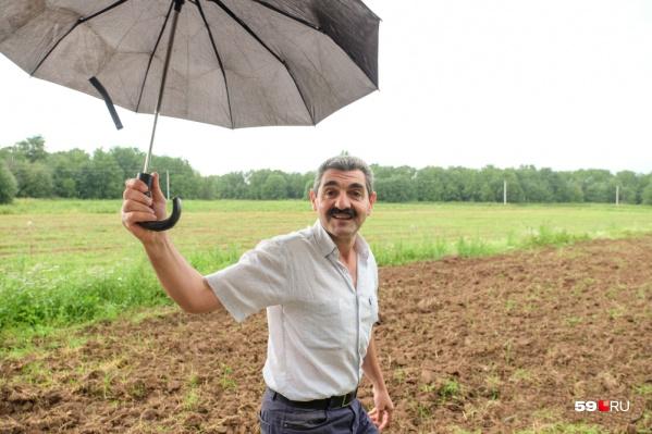 Армен Бежанян на осинской земле, ставшей для него второй родиной