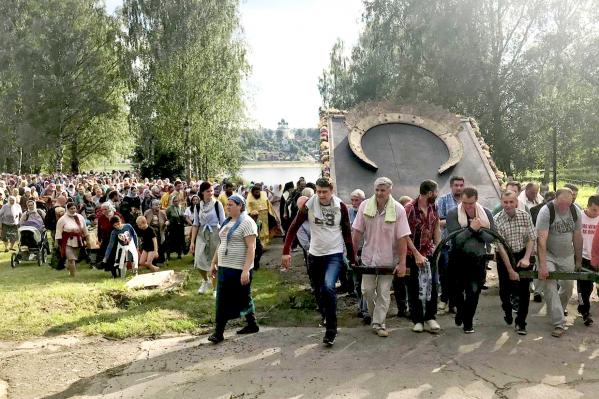 По словам очевидцев, на мероприятии собралось около тысячи человек