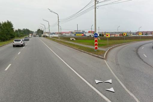 С сегодняшнего утра на развязке Северное шоссе — Авиаторов ограничили движение