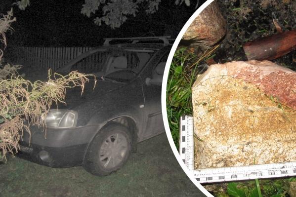 Камень, которым было совершено убийство, мужчина вытащил из кострища