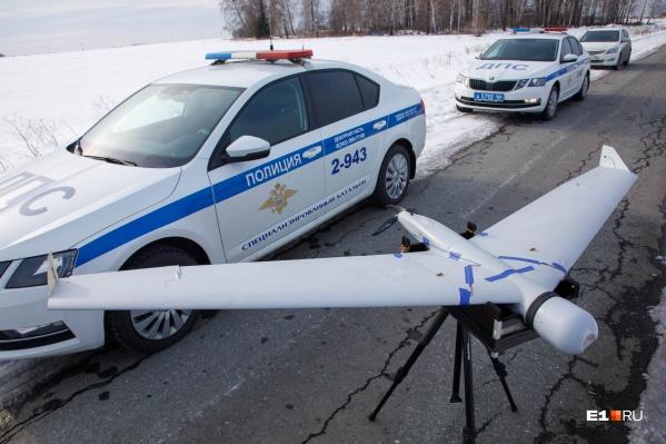 Уральские гаишники стали ловить нарушителей с помощью беспилотников