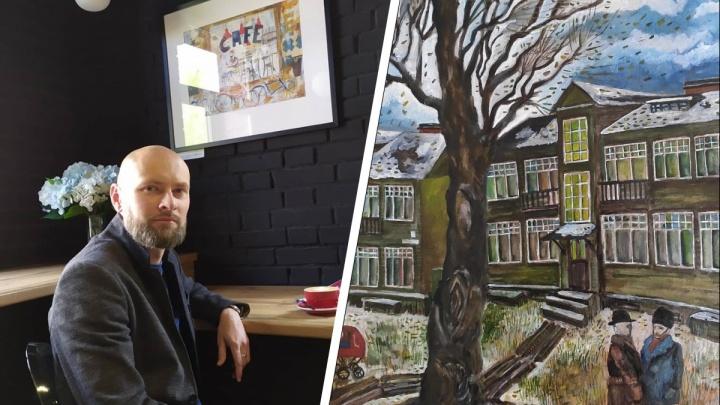 «Города моего детства больше нет»: ушедший Архангельск в картинах Евгения Тенетова