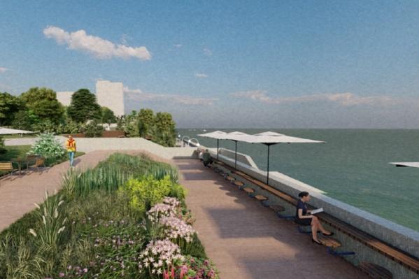 Если планы проектировщиков воплотятся в жизнь, на набережной в Закамске можно будет отдыхать с комфортом