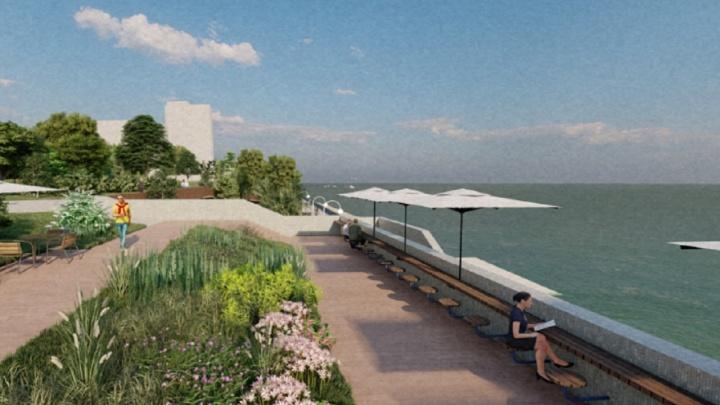 Велодорожки, памп-трек и смотровые балконы. В Перми представили концепцию набережной в Закамске