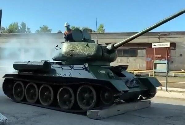 В Новокузнецке парадный танк Т-34 прошёл успешные испытания