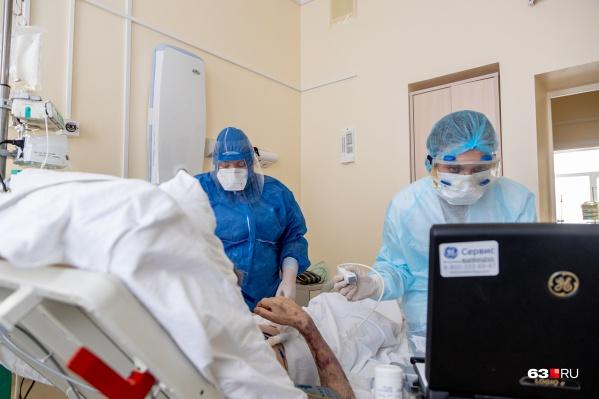 Для лечения коронавируса в самарских больницах отвели 6788 коек