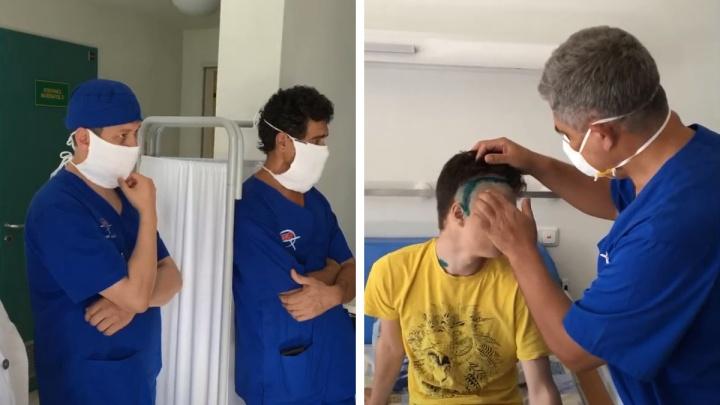 Всё время был в сознании: тюменские нейрохирурги без общего наркоза прооперировали 17-летнего Никиту