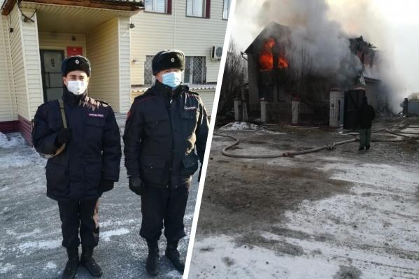 Росгвардейцы патрулировали город, когда увидели подозрительный дым
