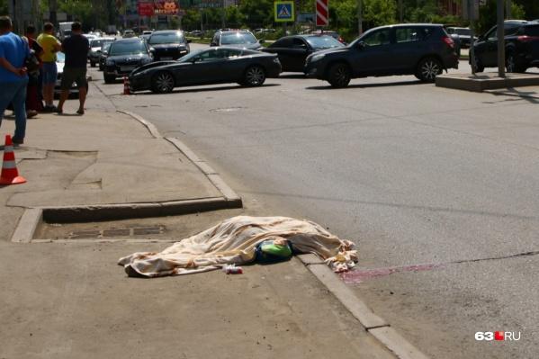 Женщина погибла на месте происшествия