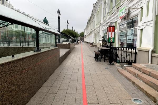 Линия проходит по главным улицам города