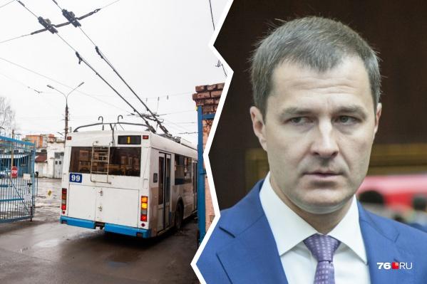 """Владимир Волков объяснил, что троллейбус <nobr class=""""_"""">№ 8</nobr> уже непопулярен&nbsp;"""