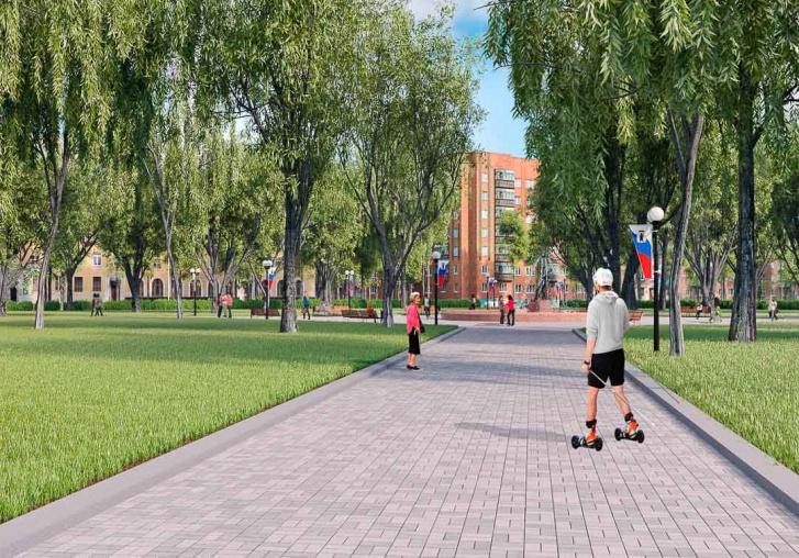 По проекту на площади Труда должны положить новую плитку и поставить светодиодные торшеры