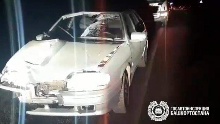 В Башкирии на трассе сбили мужчину. После этого его переехала еще одна машина и грузовик