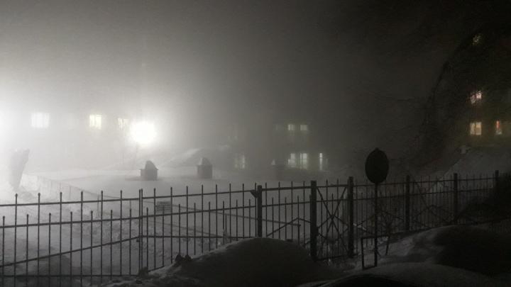 Густой утренний туман окутал Новосибирск— смотрим фото